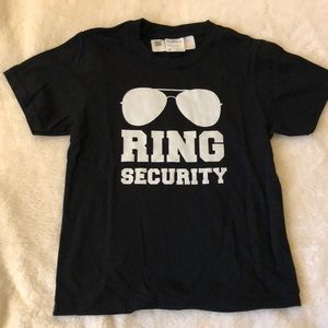 Other - Kids Ring Security ring bearer shirt